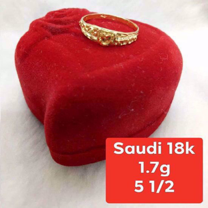 Picture of Saudi Gold Ring 18K - 1.7g_5 1/2