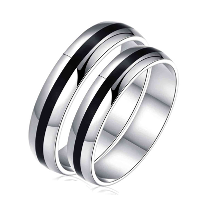 Picture of 925 Silver, Couple Ring- CS-044
