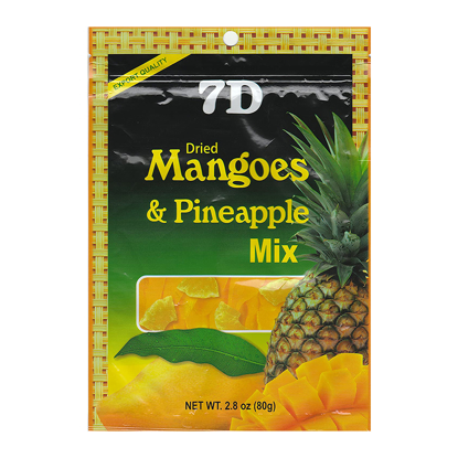 Picture of 7D Dried Mangoes & Pineapple Mix , ( 80 grams /pack)
